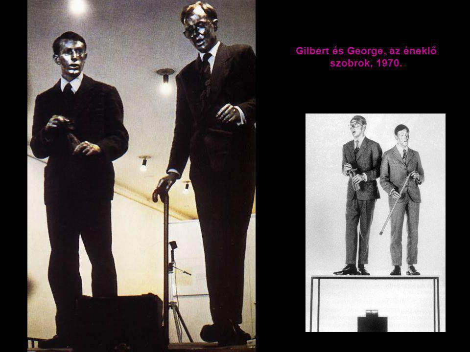 Gilbert és George, az éneklő szobrok, 1970.