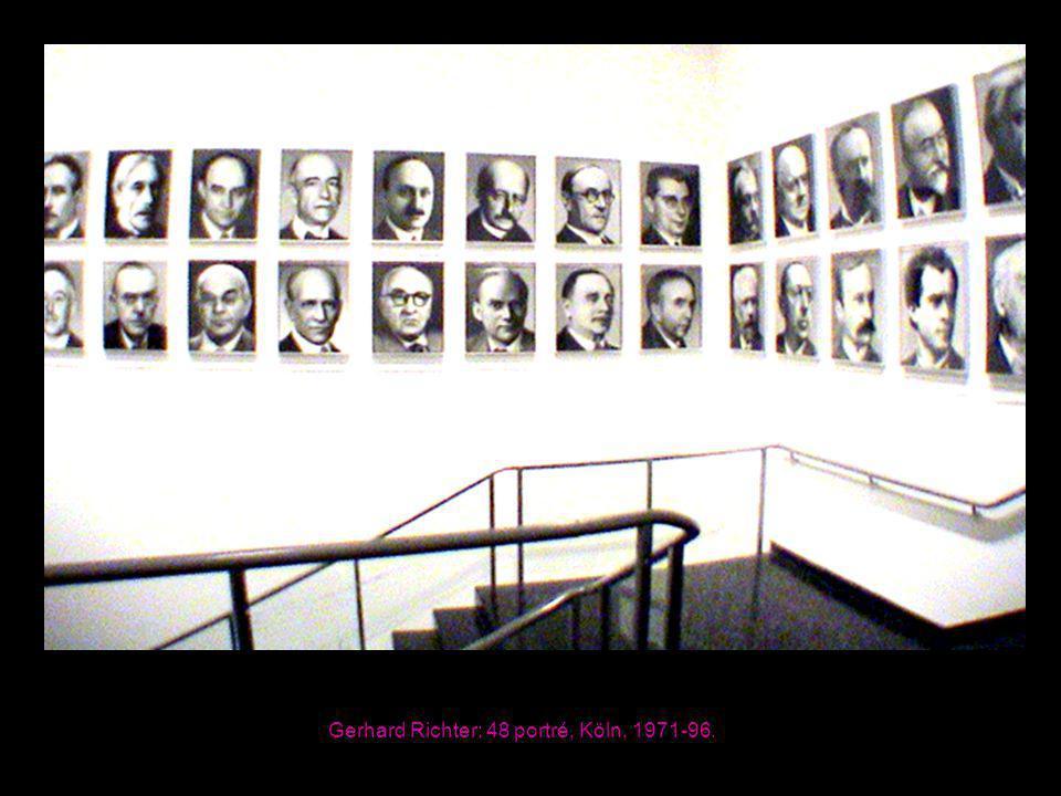 Gerhard Richter: 48 portré, Köln, 1971-96.