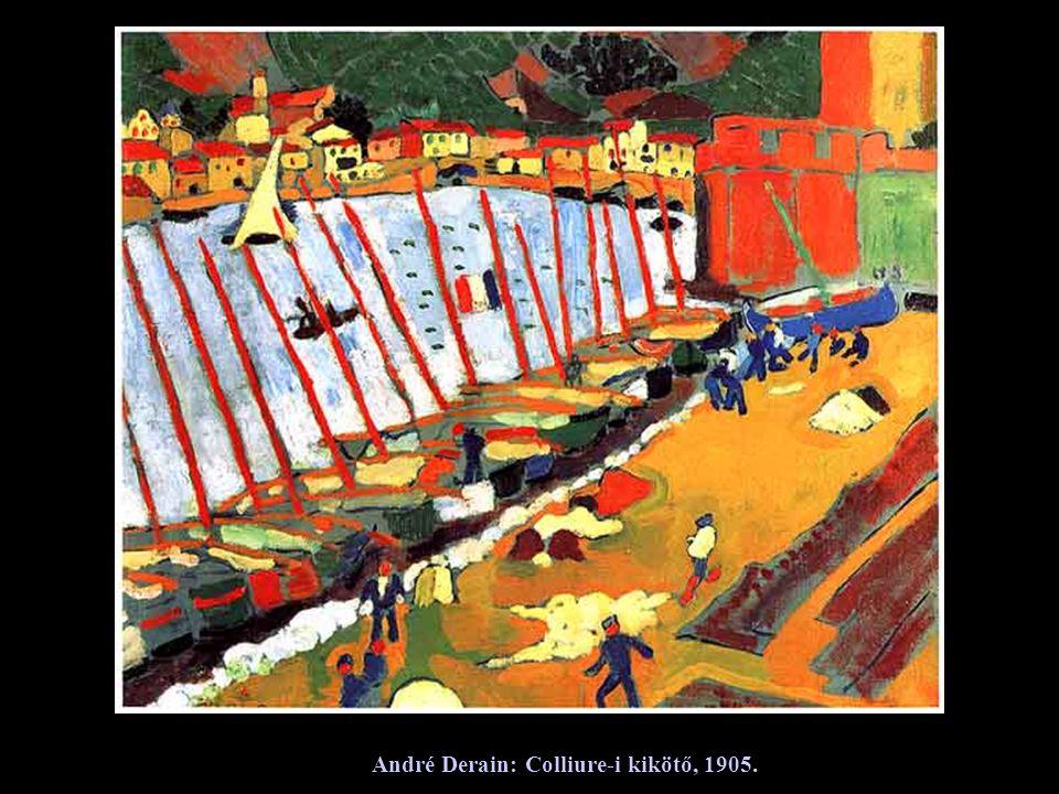 André Derain: Colliure-i kikötő, 1905.