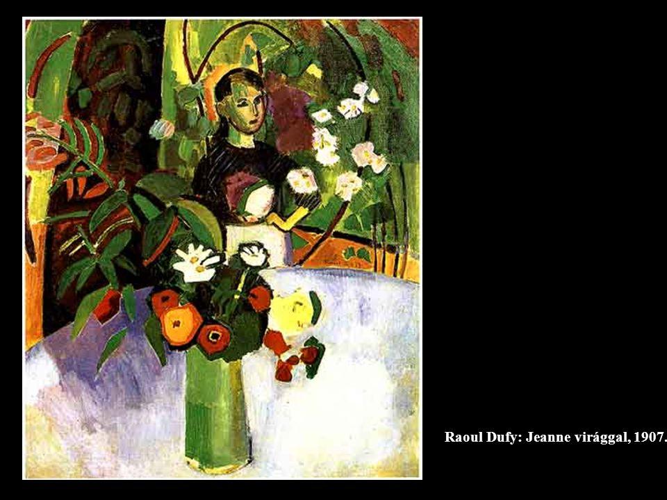 Raoul Dufy: Jeanne virággal, 1907.