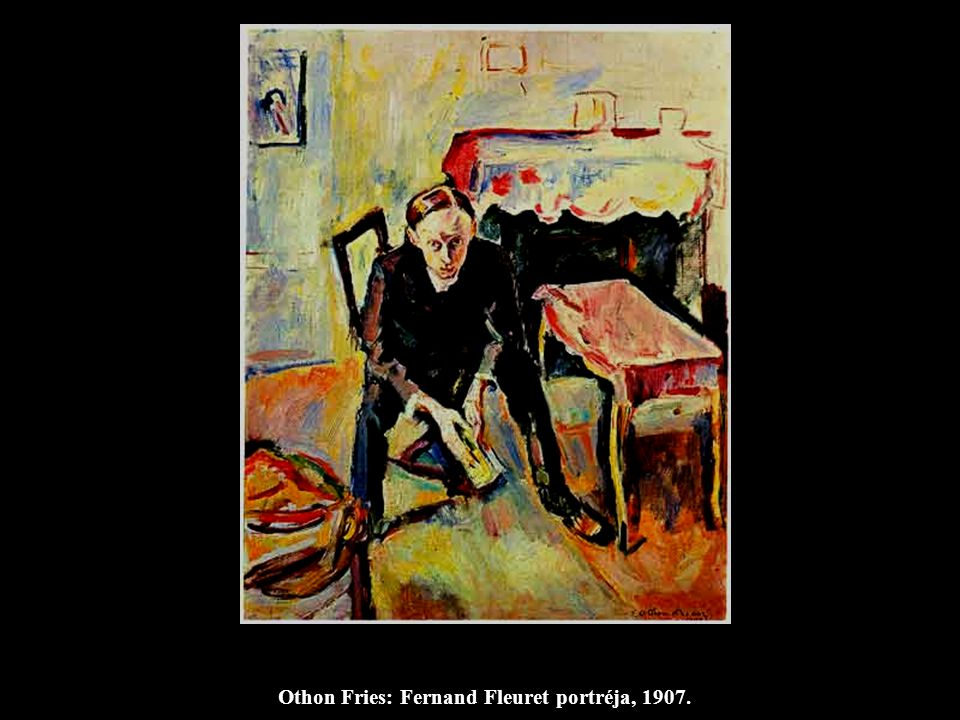 Othon Fries: Fernand Fleuret portréja, 1907.