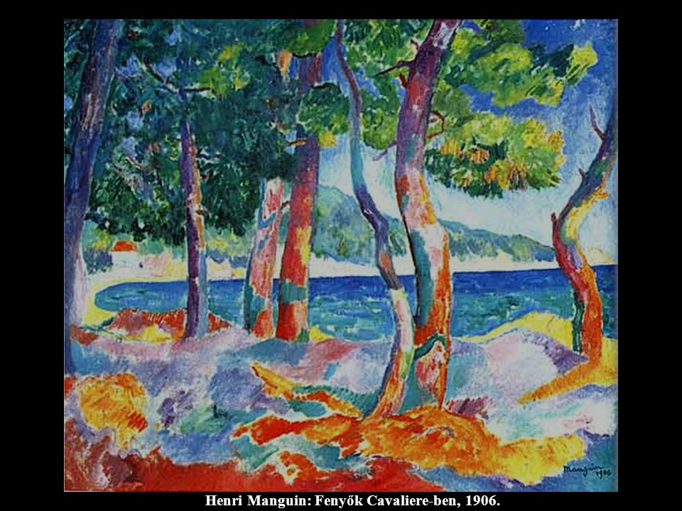 Henri Manguin: Fenyők Cavaliere-ben, 1906.