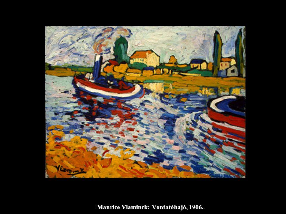 Maurice Vlaminck: Vontatóhajó, 1906.