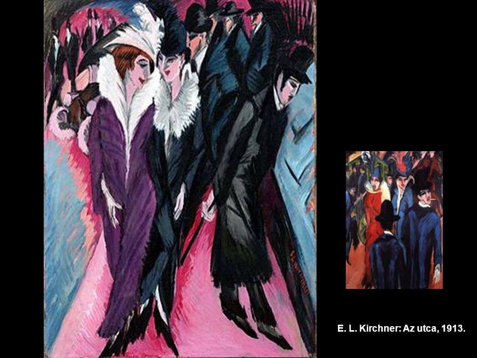 E. L. Kirchner: Az utca, 1913.