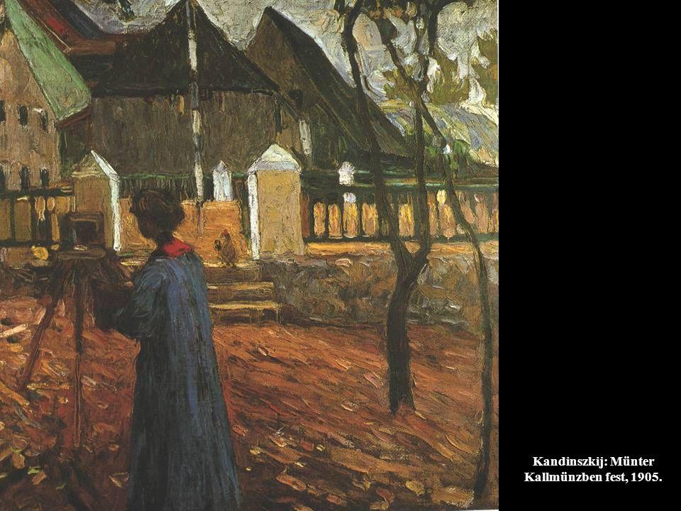 Kandinszkij: Münter Kallmünzben fest, 1905.