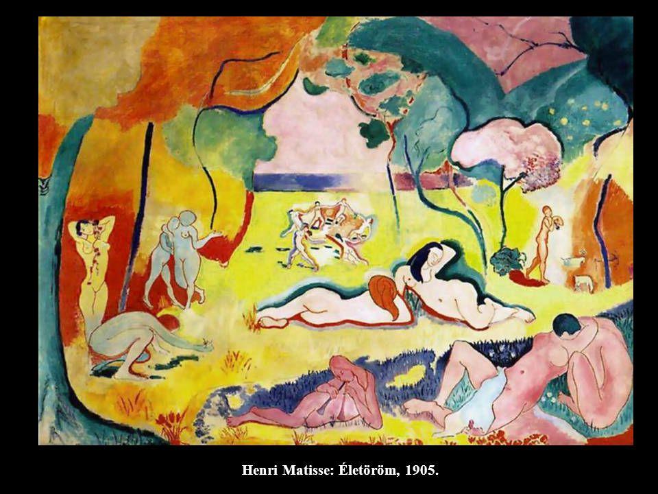 Henri Le Fauconnier: Falu sziklák között, 1910.