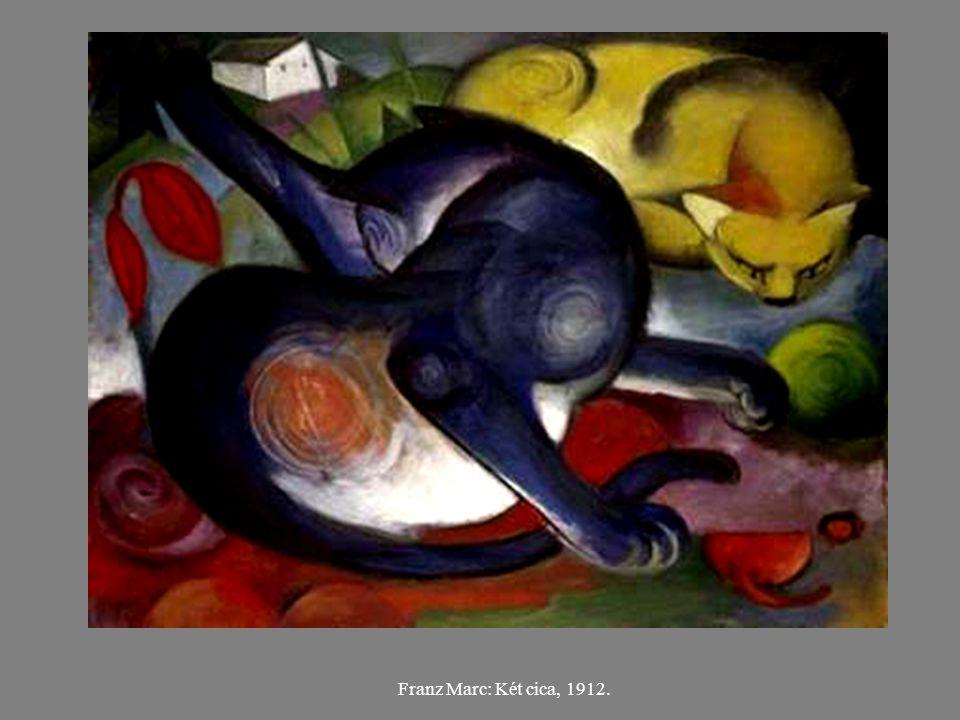 Franz Marc: Két cica, 1912.