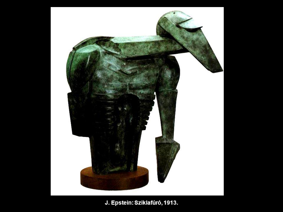 J. Epstein: Sziklafúró, 1913.