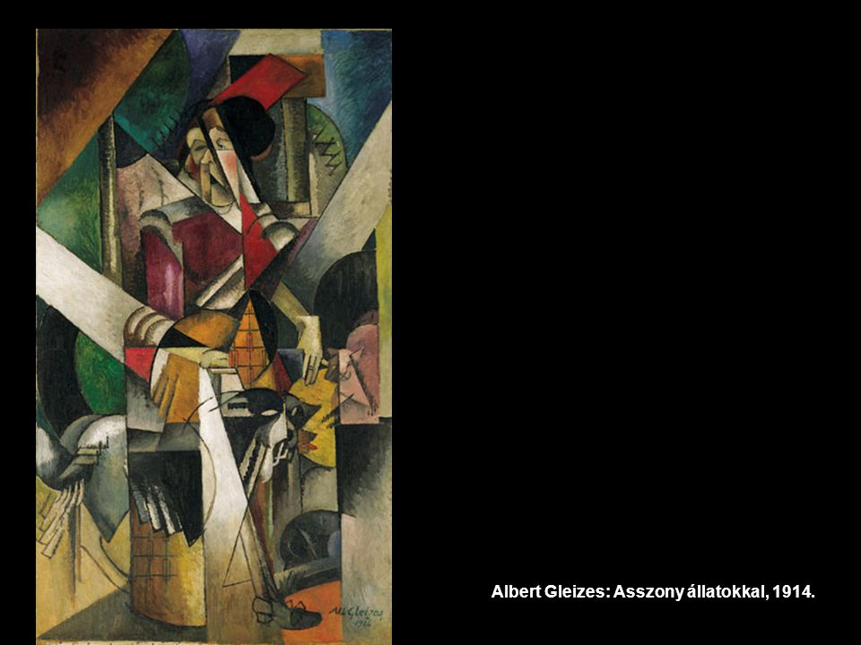 Albert Gleizes: Asszony állatokkal, 1914.