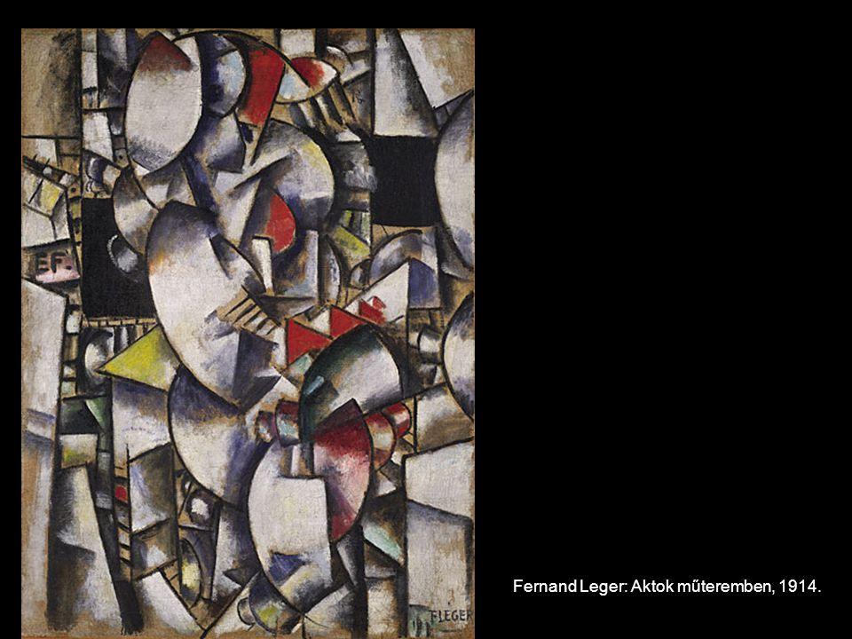 Fernand Leger: Aktok műteremben, 1914.