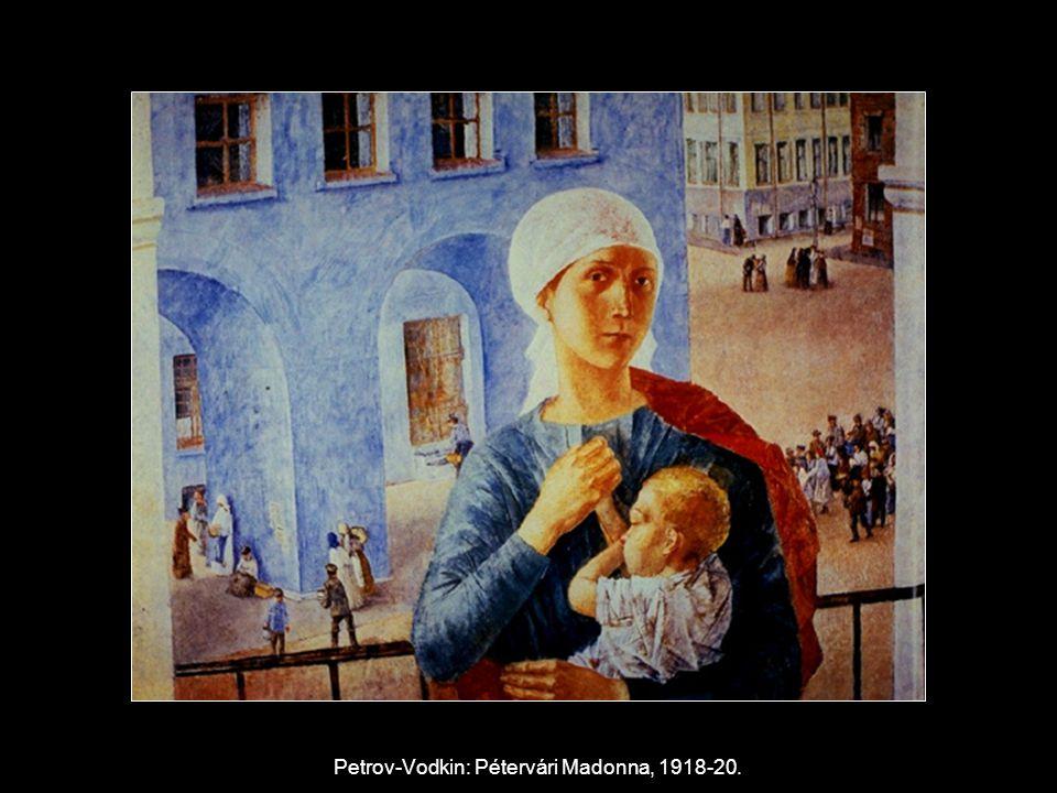 Petrov-Vodkin: Pétervári Madonna, 1918-20.