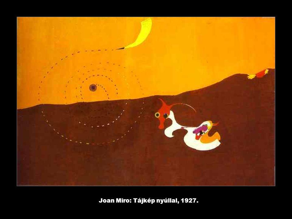 Joan Miro: Tájkép nyúllal, 1927.