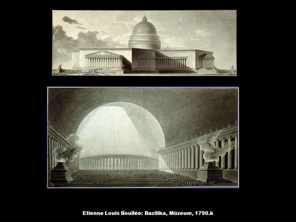 Etienne Louis Boullée: Newton emlékmű, 1790.k