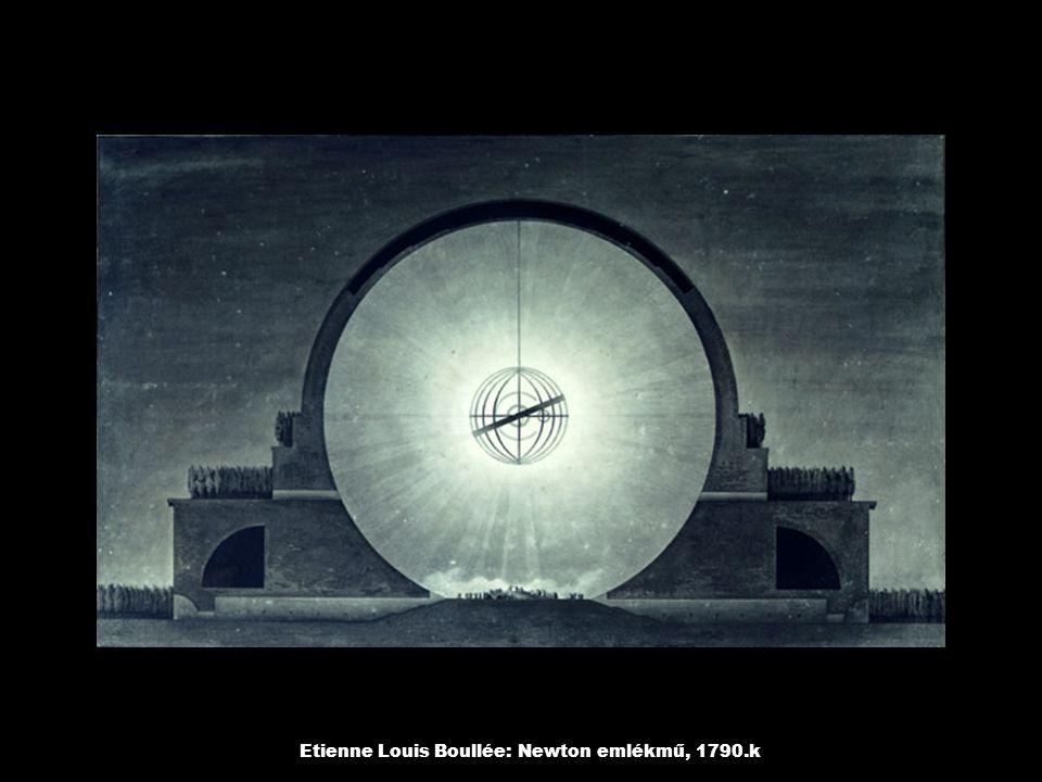 Etienne Louis Boullée: Temető bejárata, 1790.k, James Turell: Fénybe, 2000.