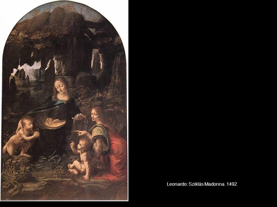 Leonardo: Sziklás Madonna. 1492.