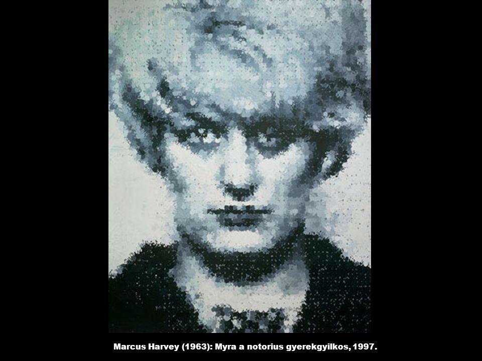 Marcus Harvey (1963): Myra a notorius gyerekgyilkos, 1997.