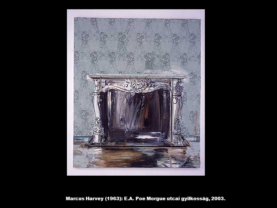 Marcus Harvey (1963): E.A. Poe Morgue utcai gyilkosság, 2003.