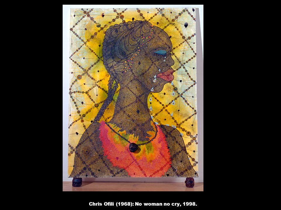 Chris Ofili (1968): No woman no cry, 1998.