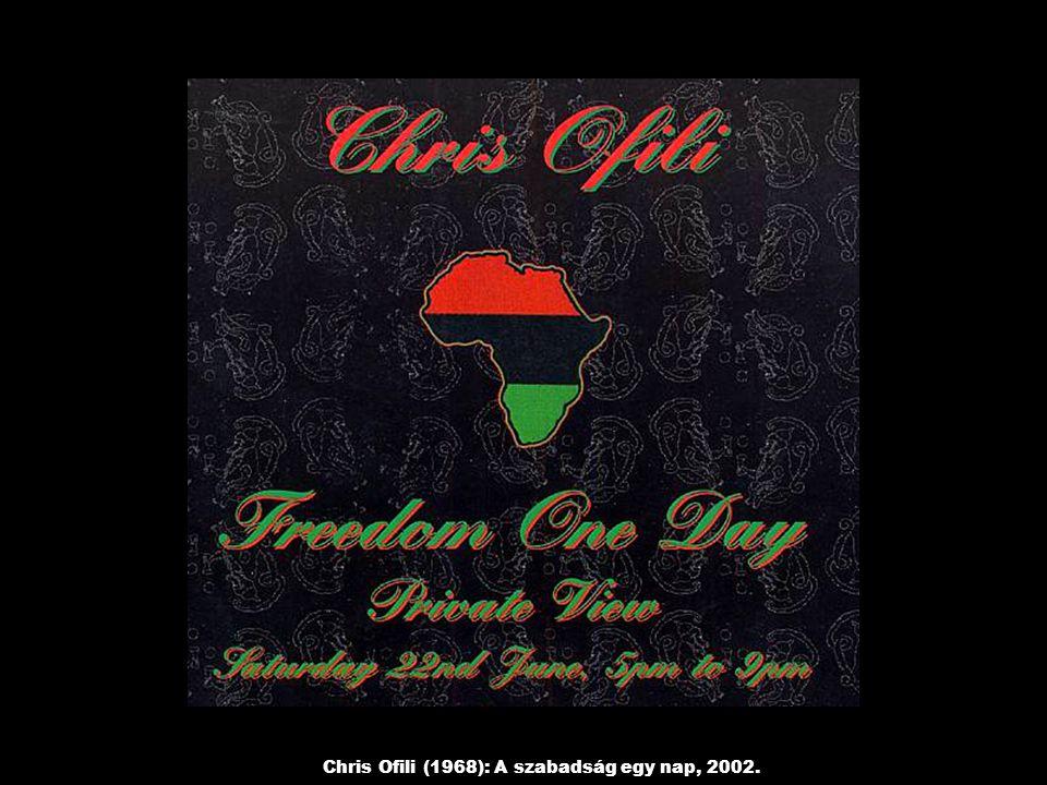 Chris Ofili (1968): A szabadság egy nap, 2002.