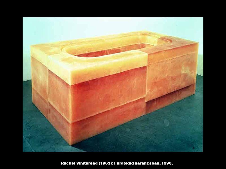 Rachel Whiteread (1963): Fürdőkád narancsban, 1990.