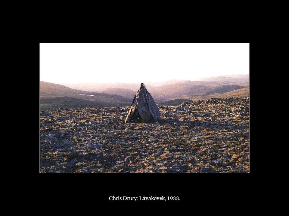 Chris Drury: Lávakövek, 1988.