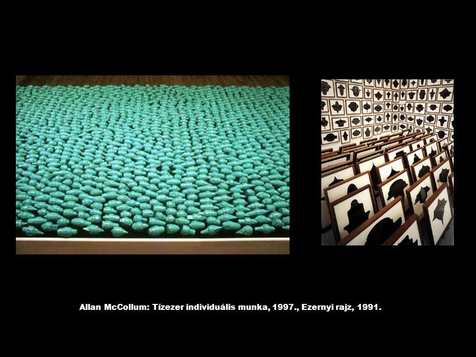 Allan McCollum: Tízezer individuális munka, 1997., Ezernyi rajz, 1991.