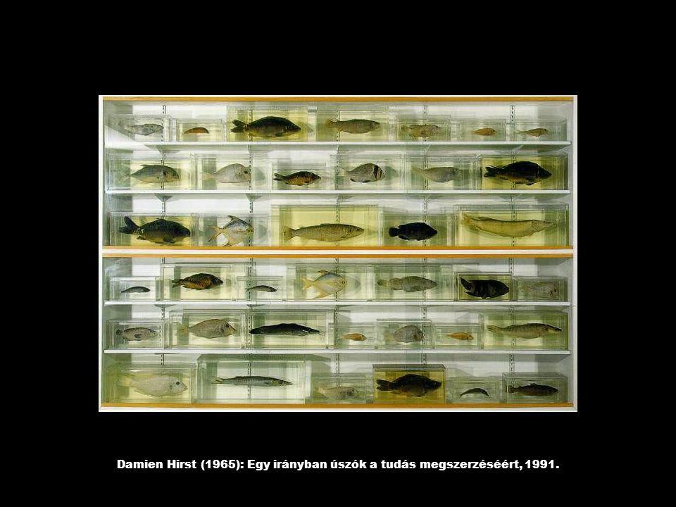 Damien Hirst (1965): Egy irányban úszók a tudás megszerzéséért, 1991.