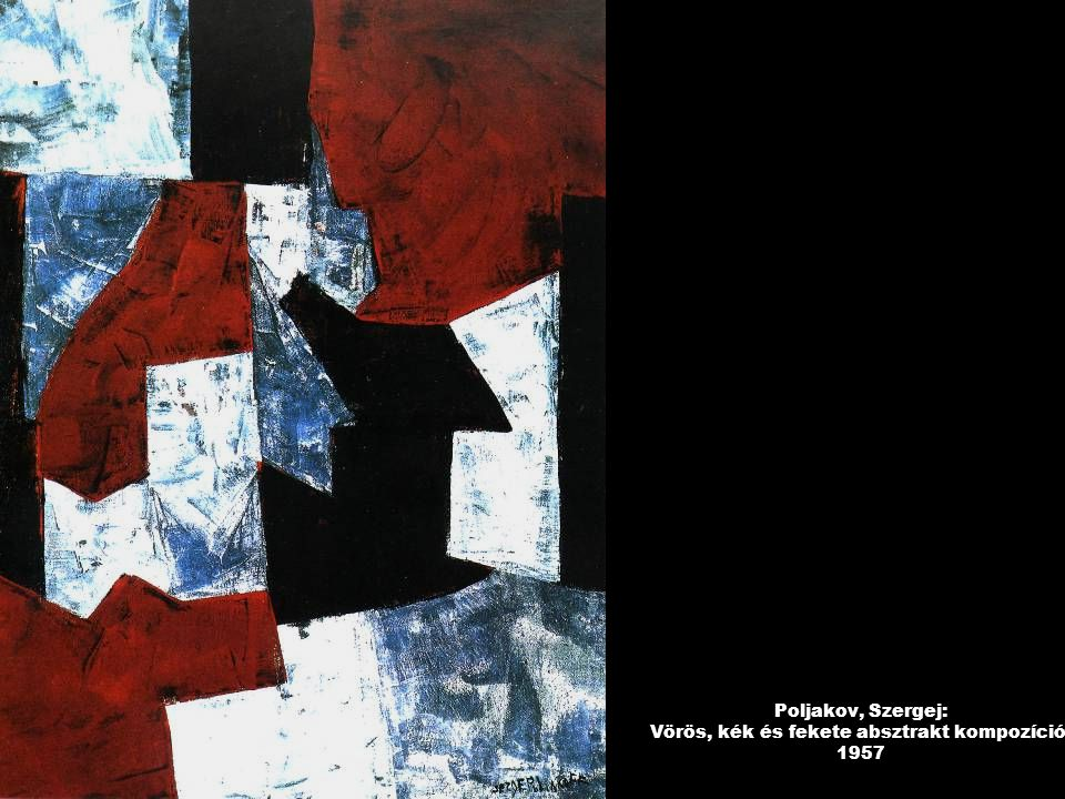 Poljakov, Szergej: Vörös, kék és fekete absztrakt kompozíció, 1957