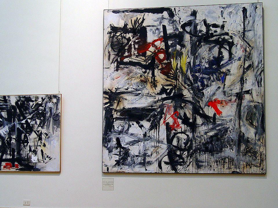 Emilio Vedova Képek 1965-ből, Róma Modern Művészeti Múzeumból