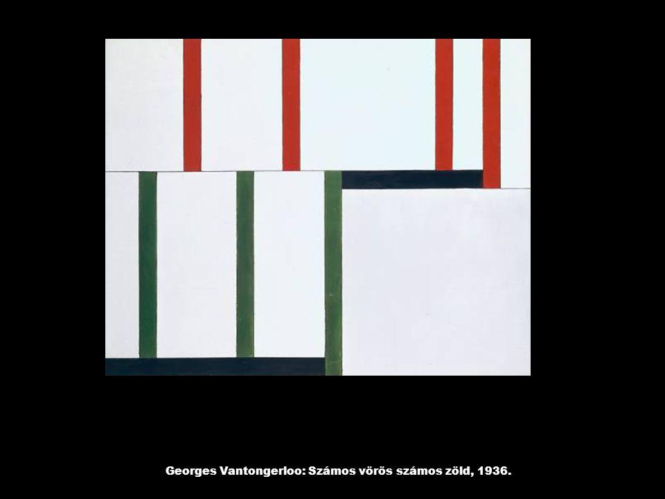Georges Vantongerloo: Számos vörös számos zöld, 1936.