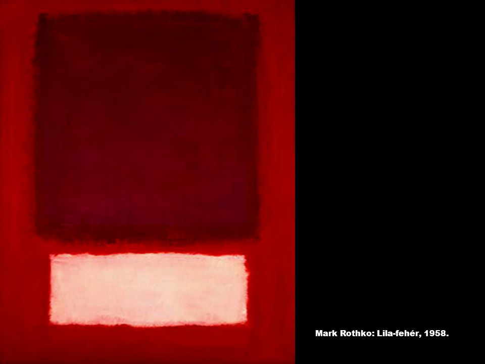 Mark Rothko: Lila-fehér, 1958.