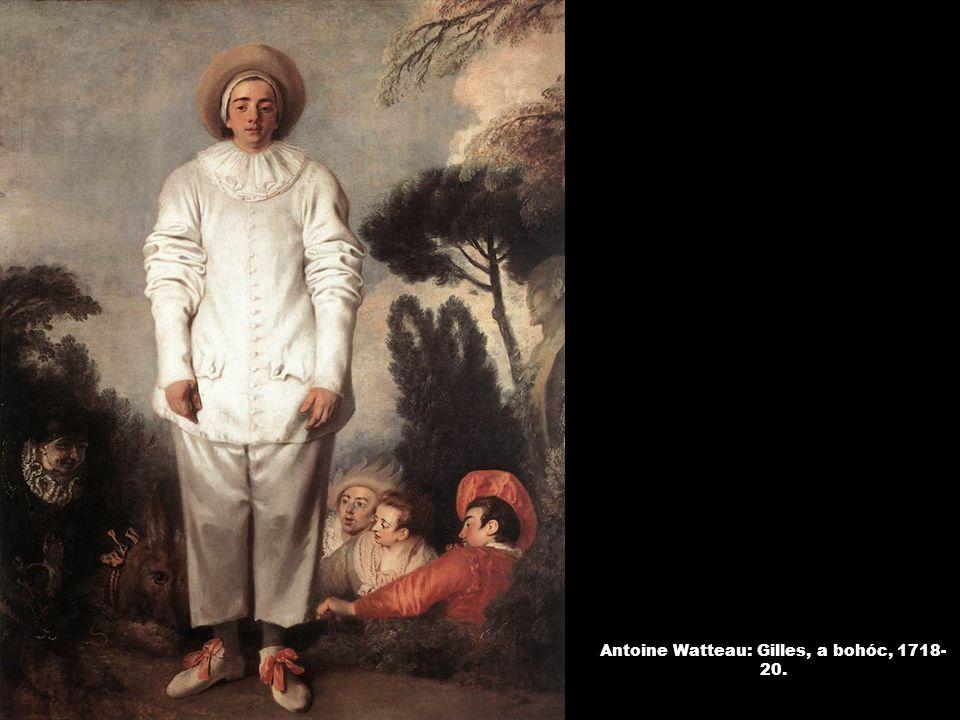 Antoine Watteau: Gilles, a bohóc, 1718- 20.
