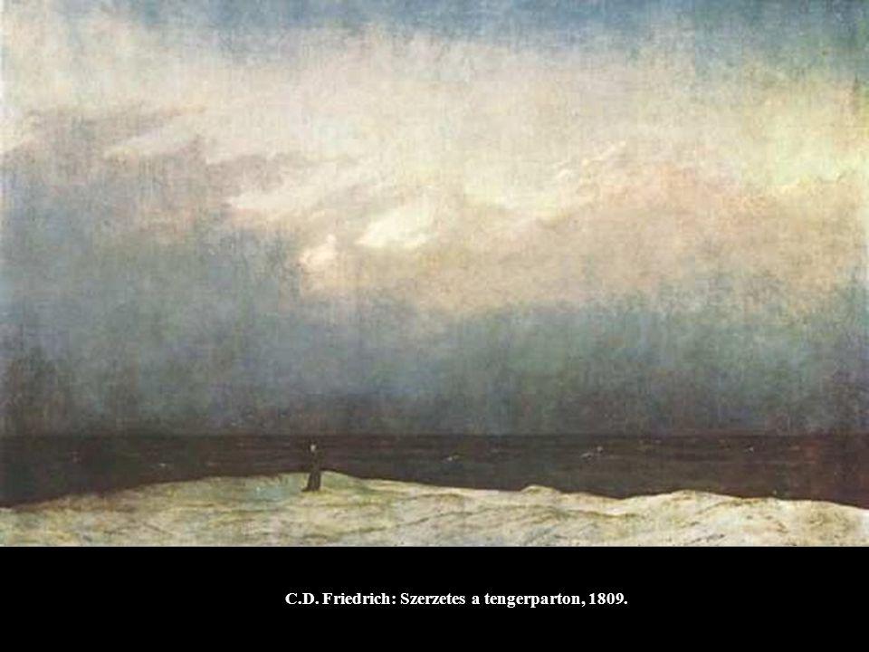 C.D. Friedrich: Szerzetes a tengerparton, 1809.