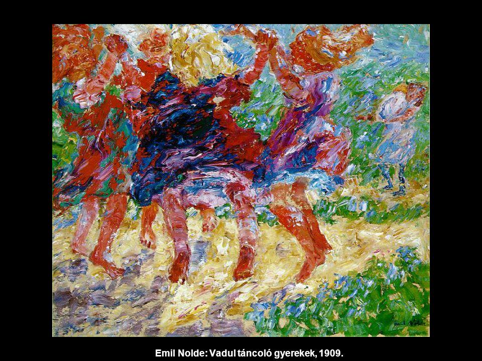 Emil Nolde: Vadul táncoló gyerekek, 1909.