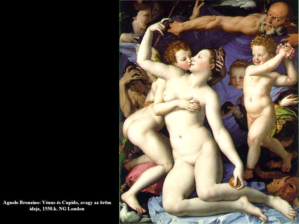 Agnolo Bronzino: Vénus és Cupido, avagy az öröm ideje, 1550.k. NG London