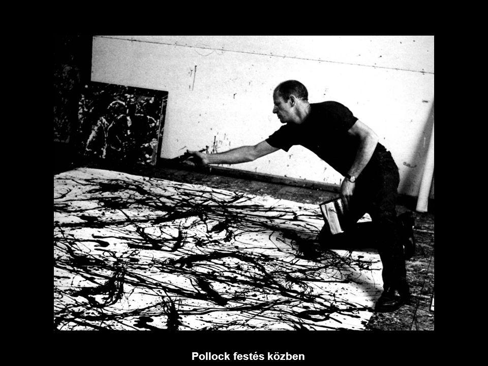 Pollock festés közben