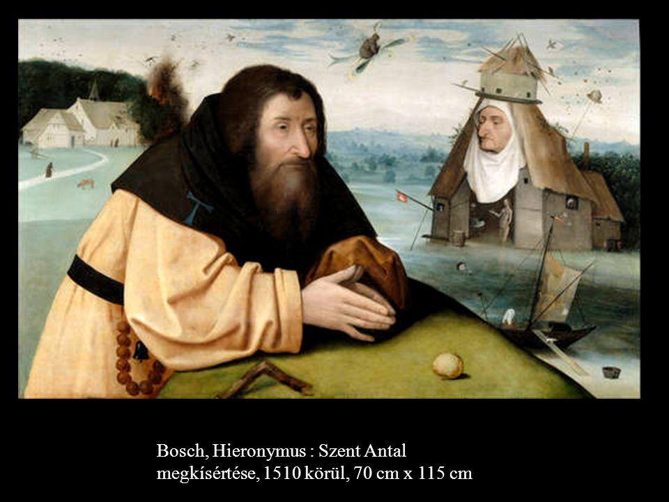 Bosch, Hieronymus Szent Antal megkísértése, 1490 után, 73 cm x 52,5 cm