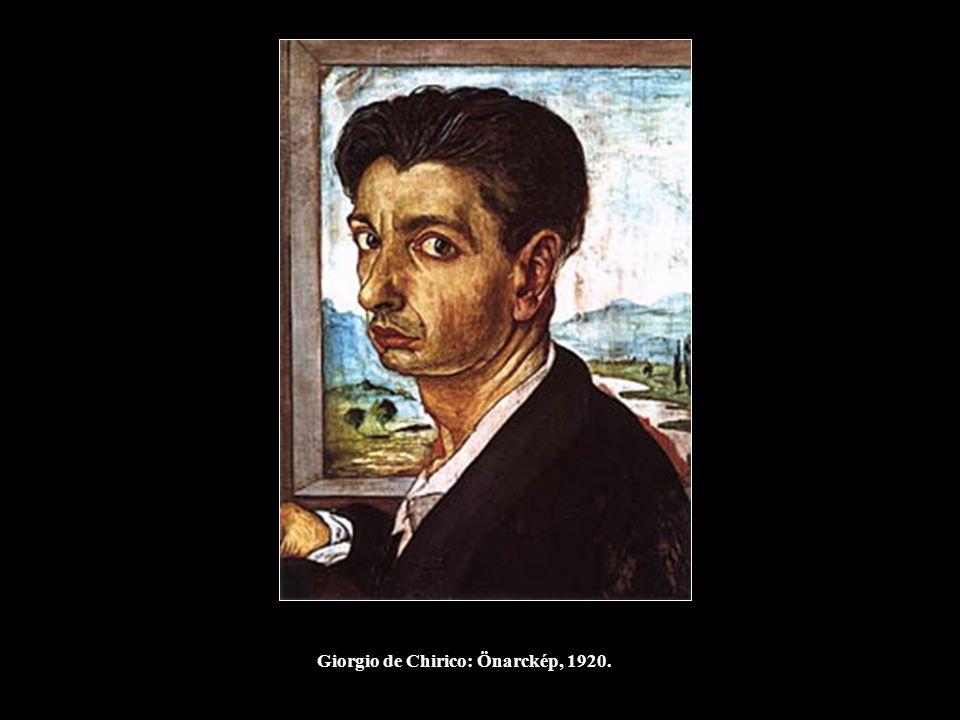 Giorgio de Chirico: Önarckép, 1920.