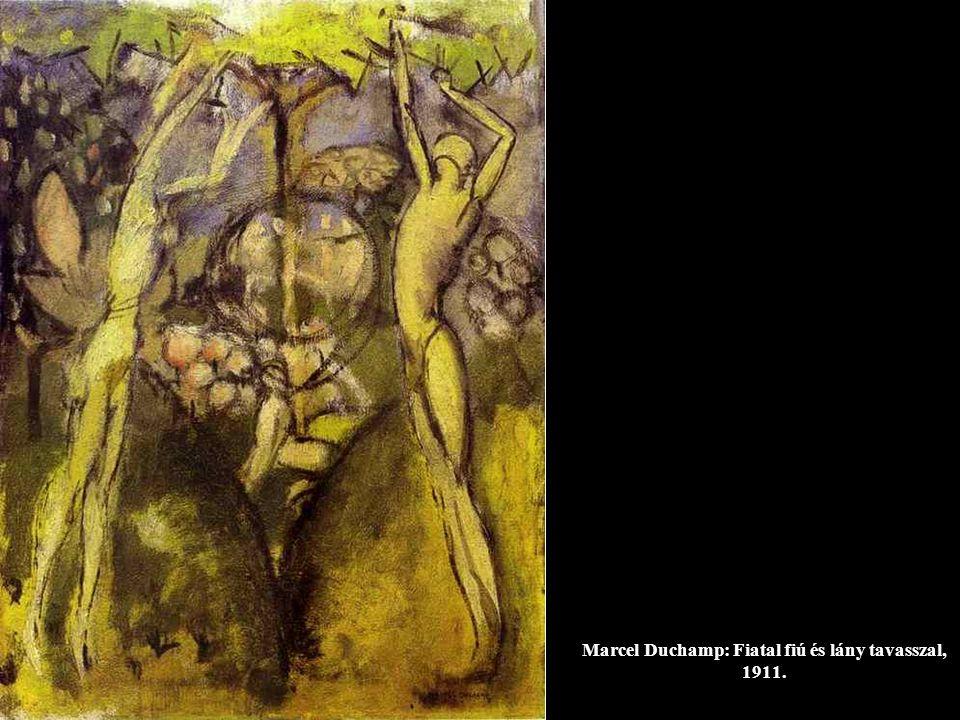 Marcel Duchamp: Fiatal fiú és lány tavasszal, 1911.