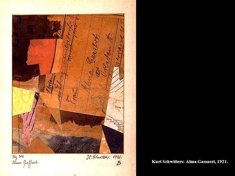Kurt Schwitters: Alma Gassaert, 1921.
