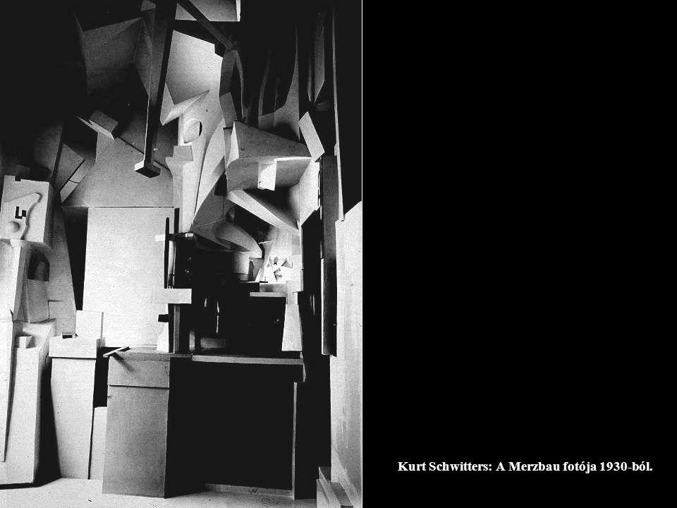 Kurt Schwitters: A Merzbau fotója 1930-ból.