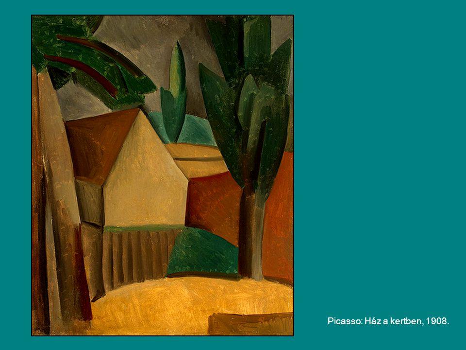 Picasso: Ház a kertben, 1908.