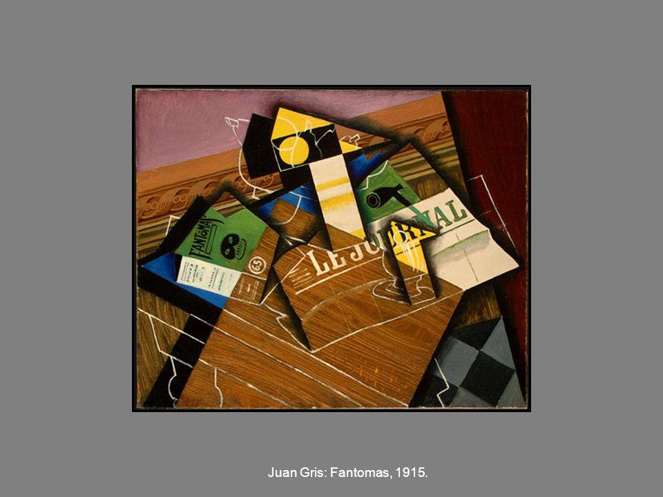 Juan Gris: Fantomas, 1915.