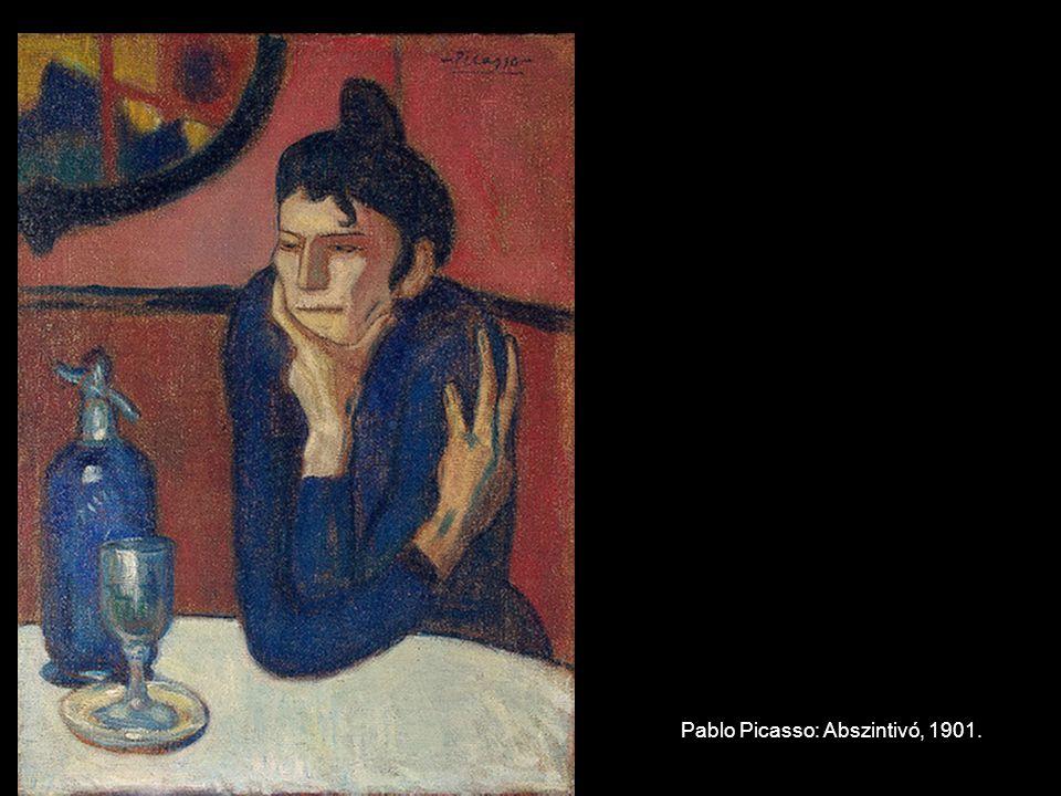 Pablo Picasso: Abszintivó, 1901.