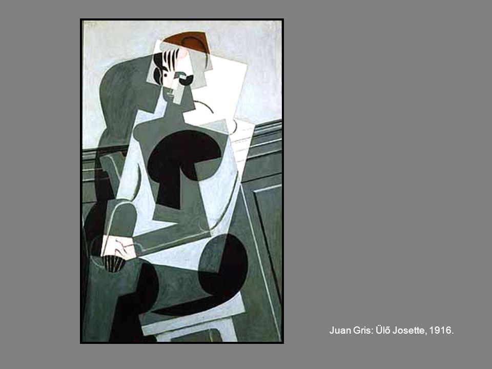 Juan Gris: Ülő Josette, 1916.
