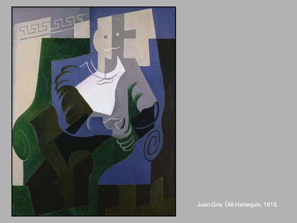 Juan Gris: Ülő Harlequin, 1918.