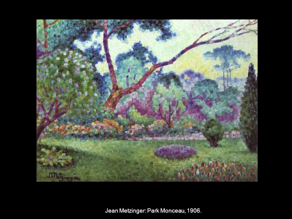 Jean Metzinger: Park Monceau, 1906.