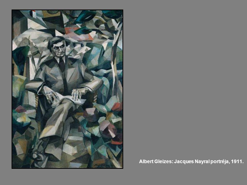 Albert Gleizes: Jacques Nayral portréja, 1911.