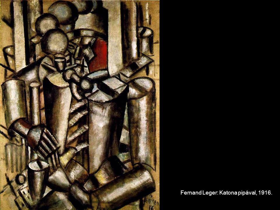 Fernand Leger: Katona pipával, 1916.