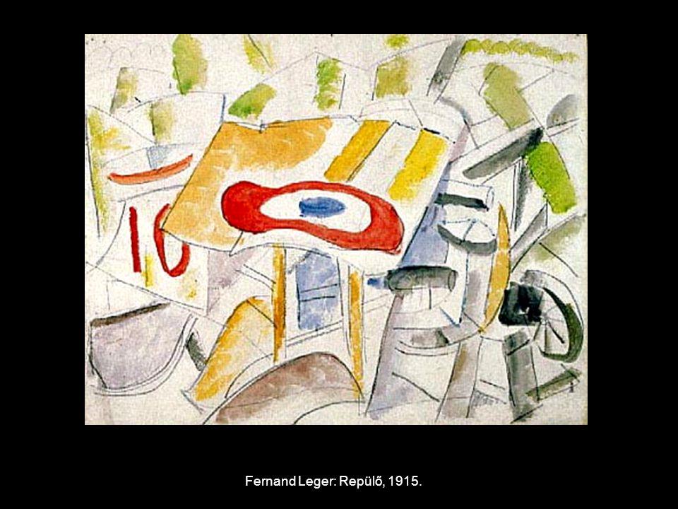 Fernand Leger: Repülő, 1915.